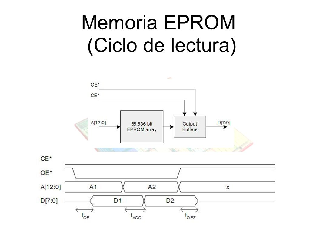 Memoria EPROM (Ciclo de lectura)