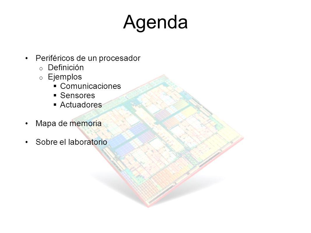 Agenda Periféricos de un procesador Definición Ejemplos Comunicaciones