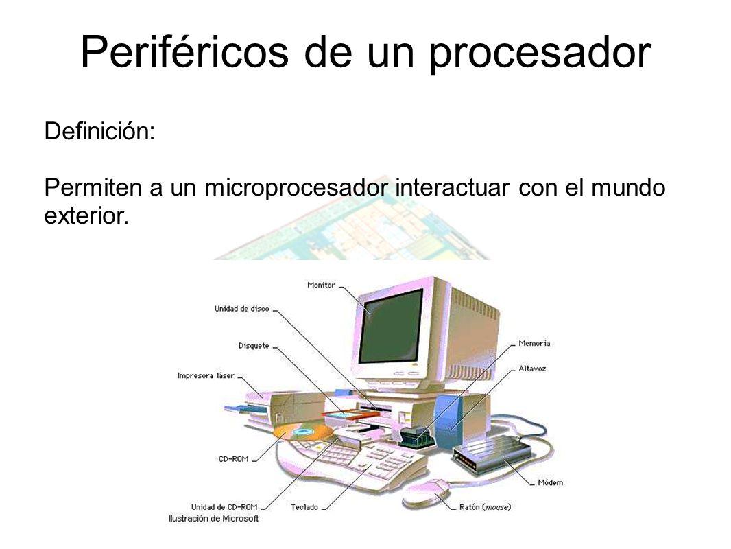 Periféricos de un procesador