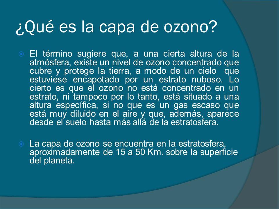 ¿Qué es la capa de ozono