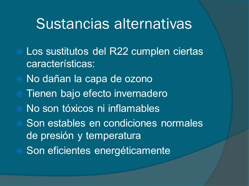 Sustancias alternativas