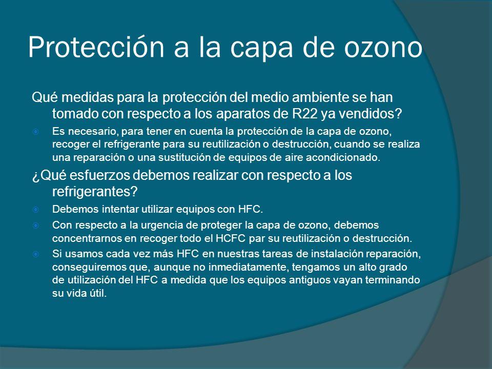 Protección a la capa de ozono