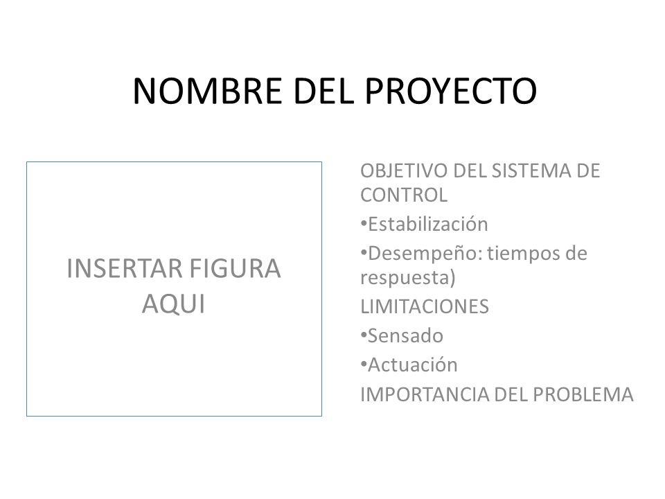 NOMBRE DEL PROYECTO INSERTAR FIGURA AQUI