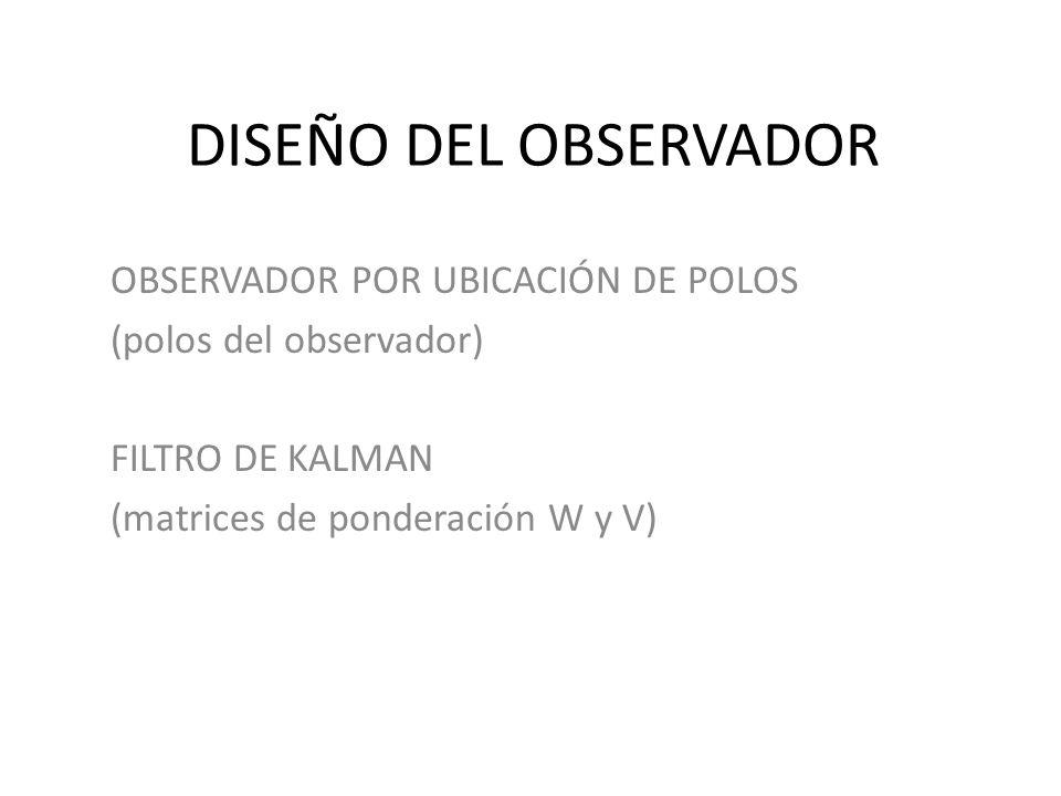 DISEÑO DEL OBSERVADOR OBSERVADOR POR UBICACIÓN DE POLOS
