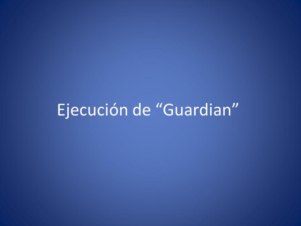 Ejecución de Guardian