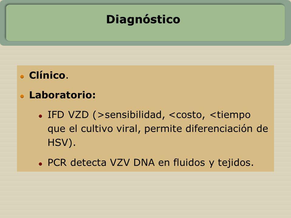 Diagnóstico Clínico. Laboratorio: