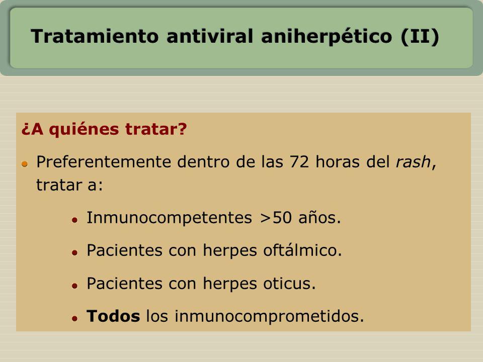 Tratamiento antiviral aniherpético (II)