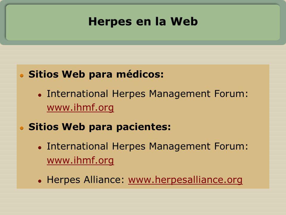 Herpes en la Web Sitios Web para médicos: