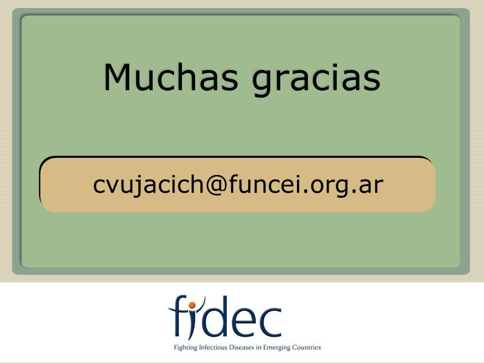 Muchas gracias cvujacich@funcei.org.ar USA