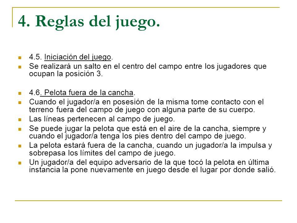 Reglamento de cestobol ppt descargar for Cuando es fuera de lugar en un partido de futbol