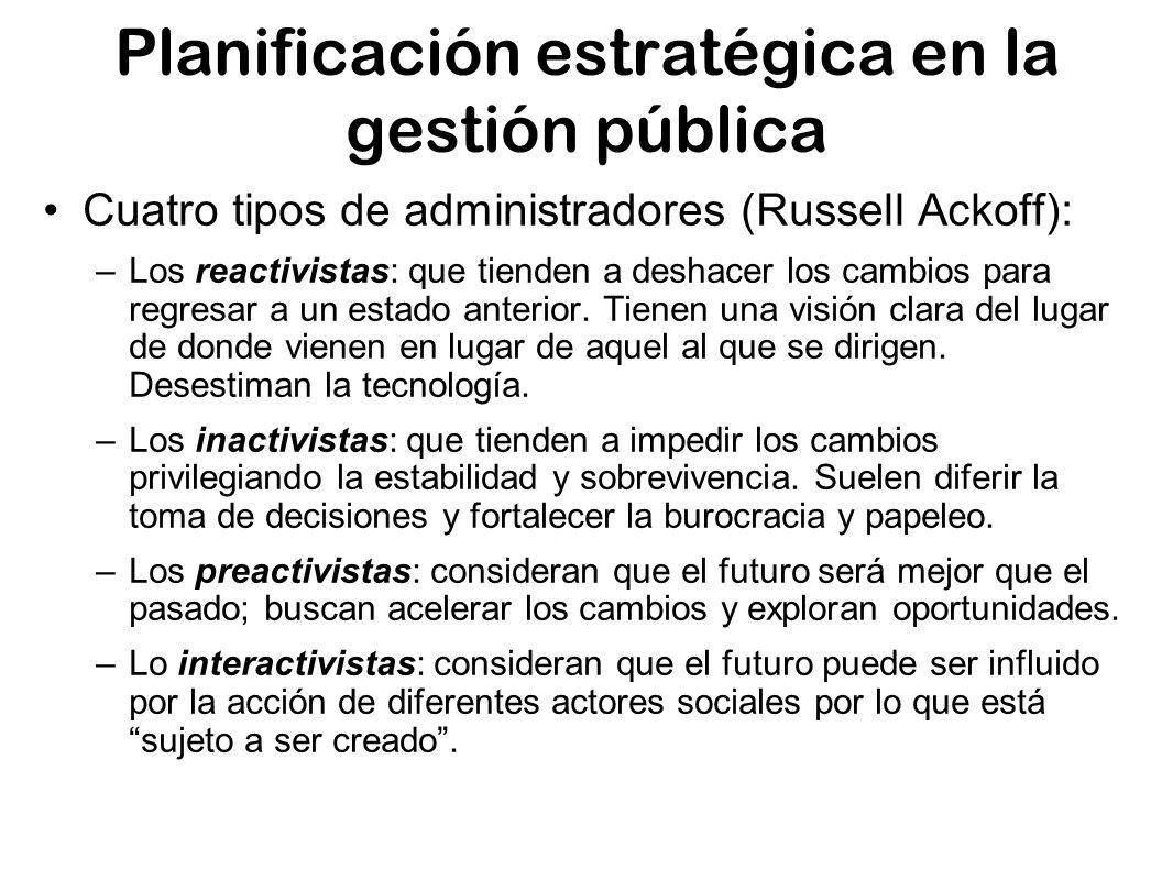 Planificación estratégica en la gestión pública