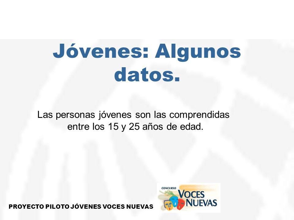 Jóvenes: Algunos datos.