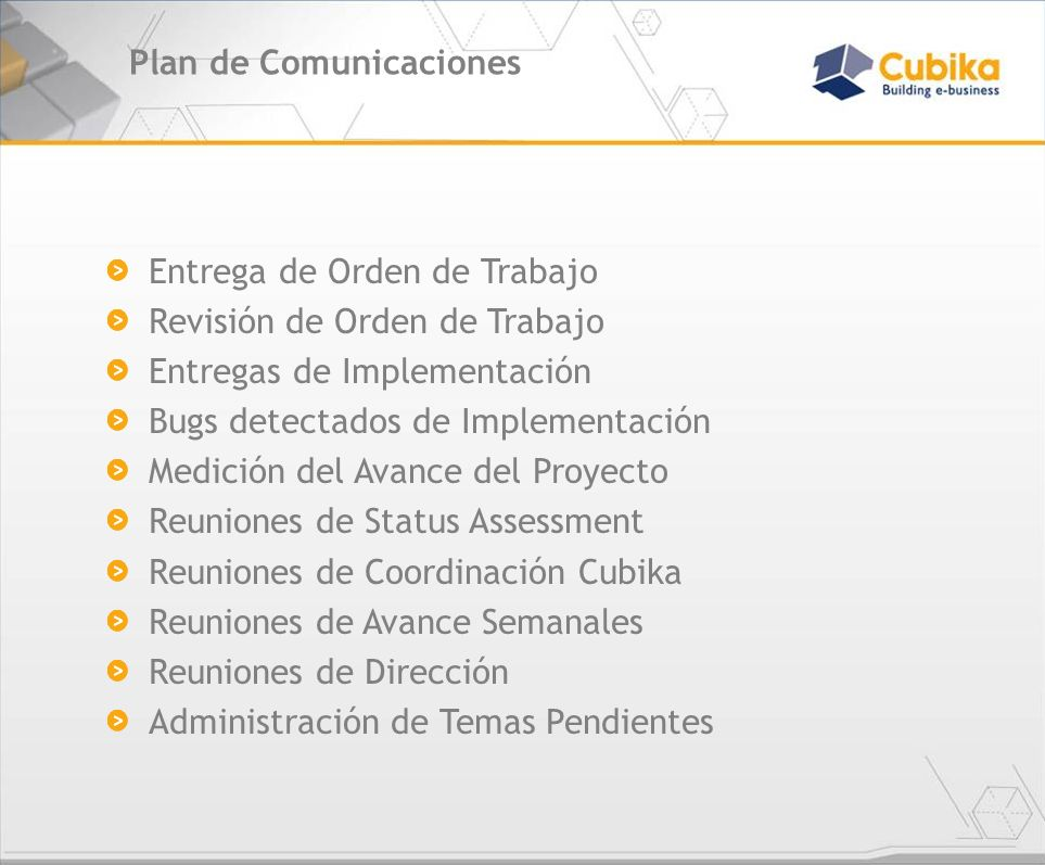 Plan de Comunicaciones