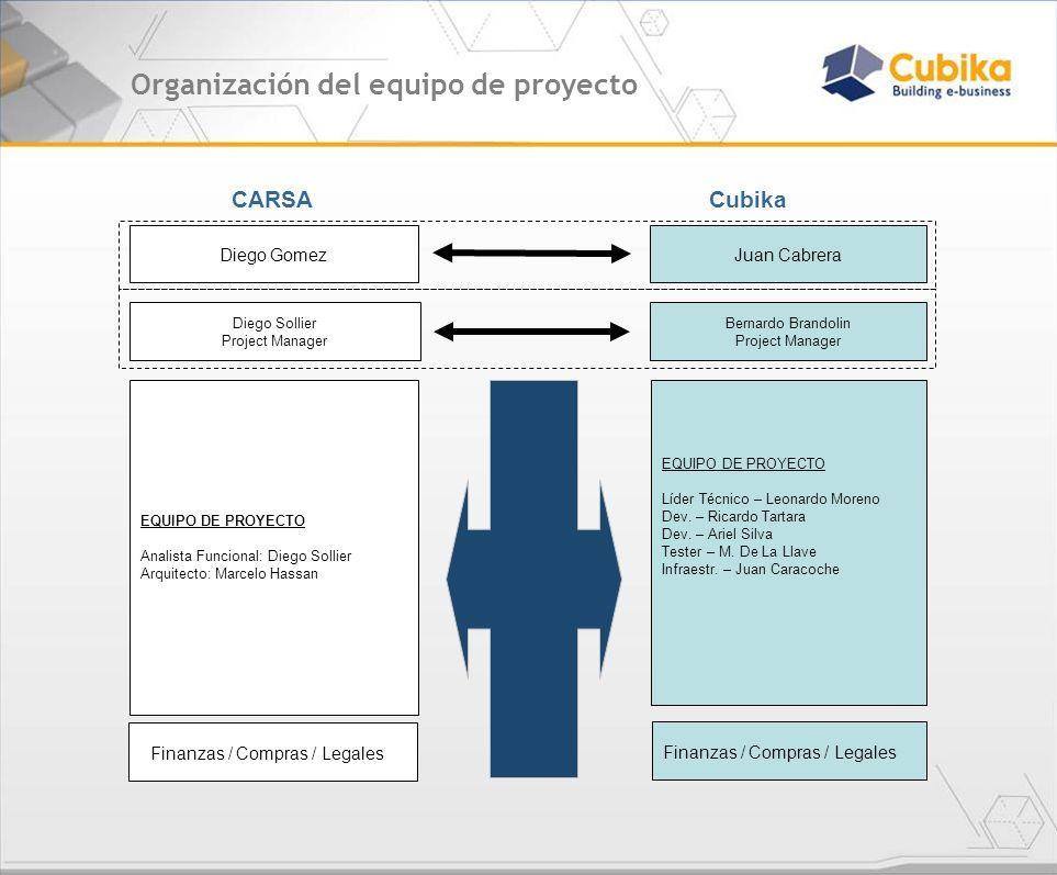 Organización del equipo de proyecto