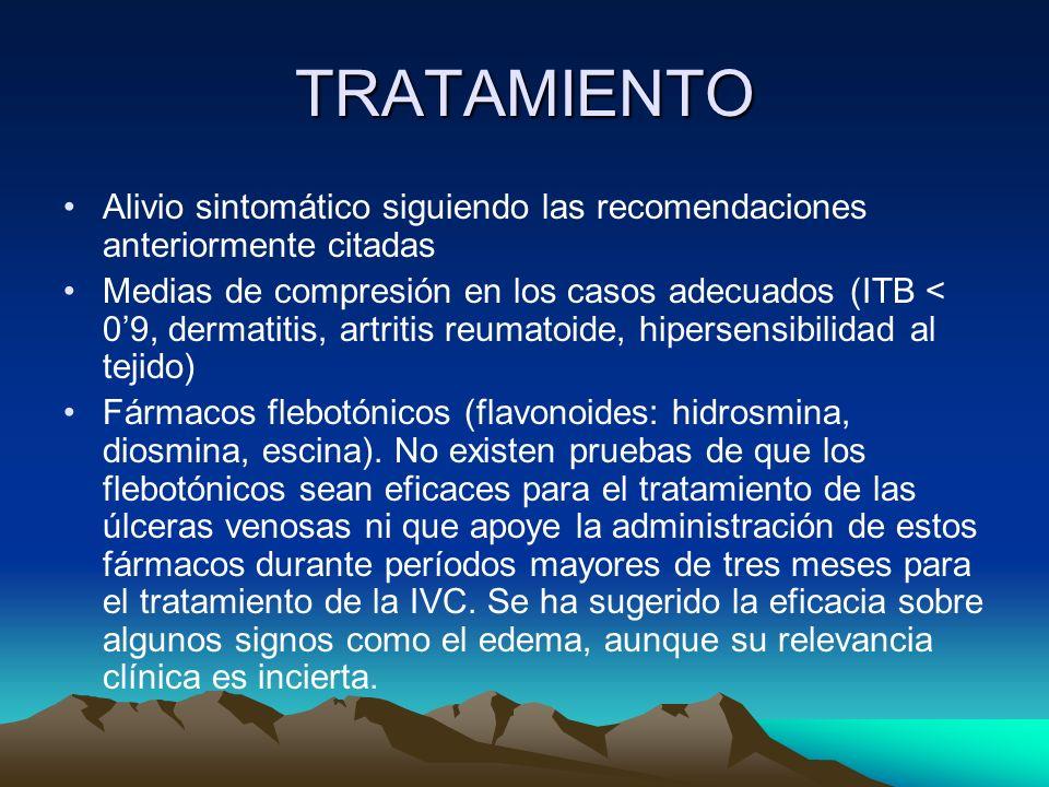 TRATAMIENTOAlivio sintomático siguiendo las recomendaciones anteriormente citadas.