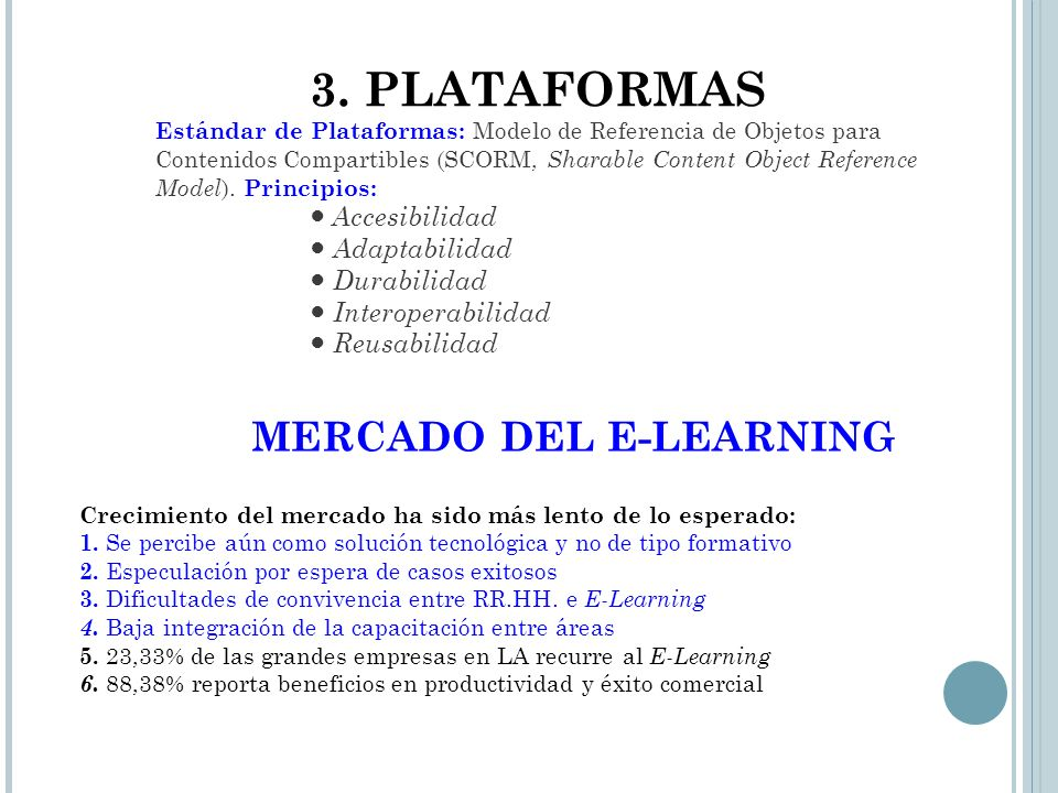 MERCADO DEL E-LEARNING
