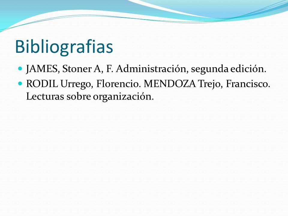 Bibliografias JAMES, Stoner A, F. Administración, segunda edición.