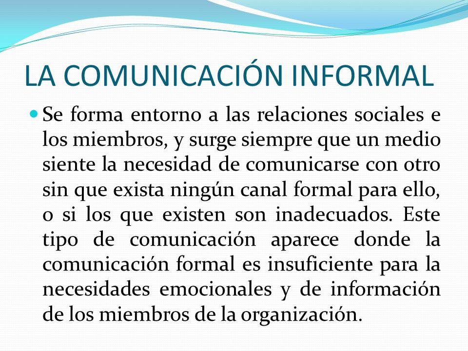 LA COMUNICACIÓN INFORMAL