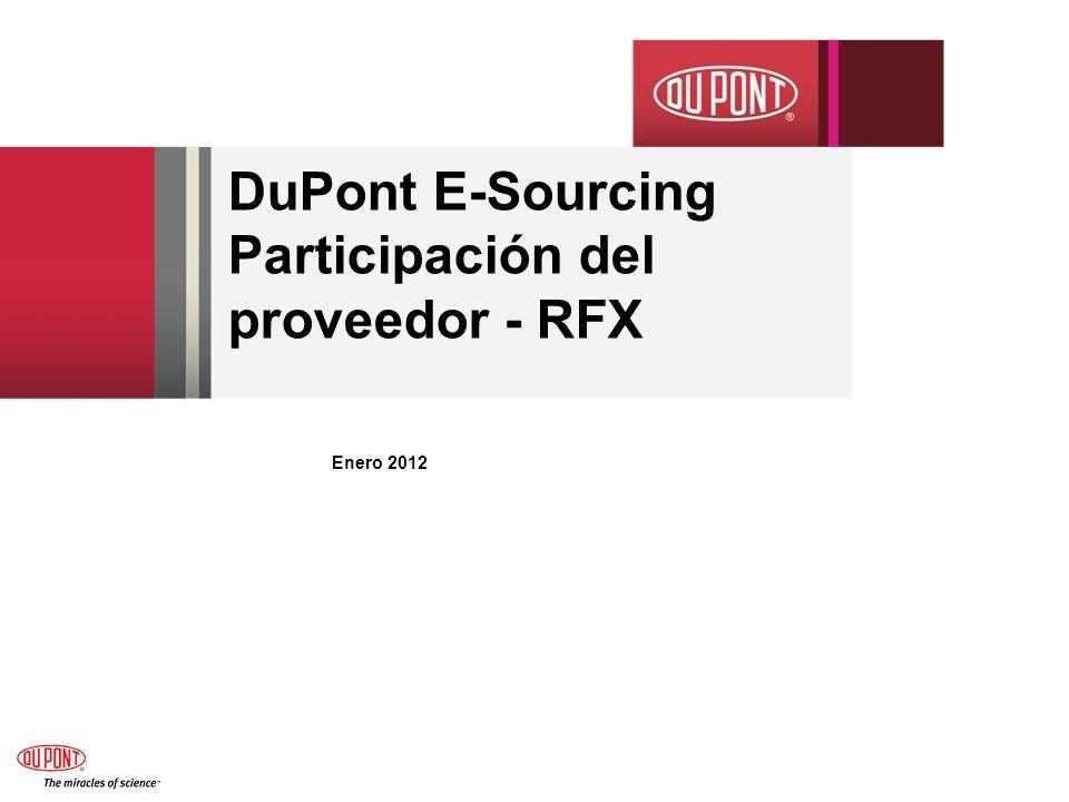 DuPont E-Sourcing Participación del proveedor - RFX