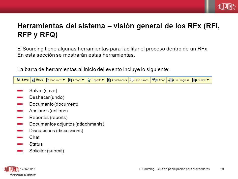 Herramientas del sistema – visión general de los RFx (RFI, RFP y RFQ)