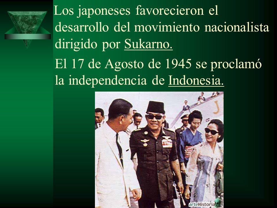 El 17 de Agosto de 1945 se proclamó la independencia de Indonesia.