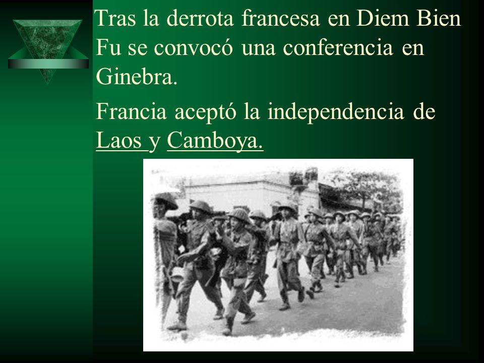 Francia aceptó la independencia de Laos y Camboya.