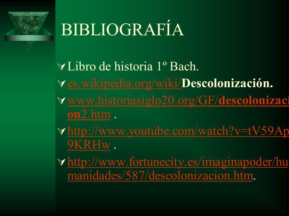 BIBLIOGRAFÍA Libro de historia 1º Bach.