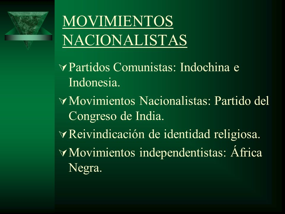 MOVIMIENTOS NACIONALISTAS
