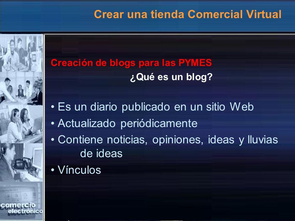 Crear una tienda Comercial Virtual