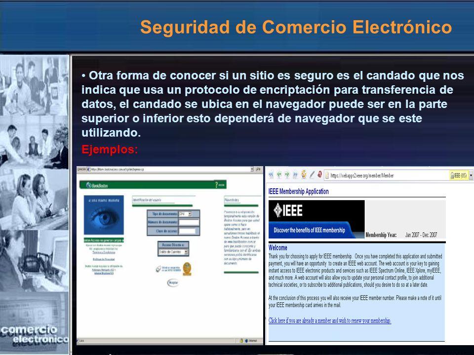 Seguridad de Comercio Electrónico