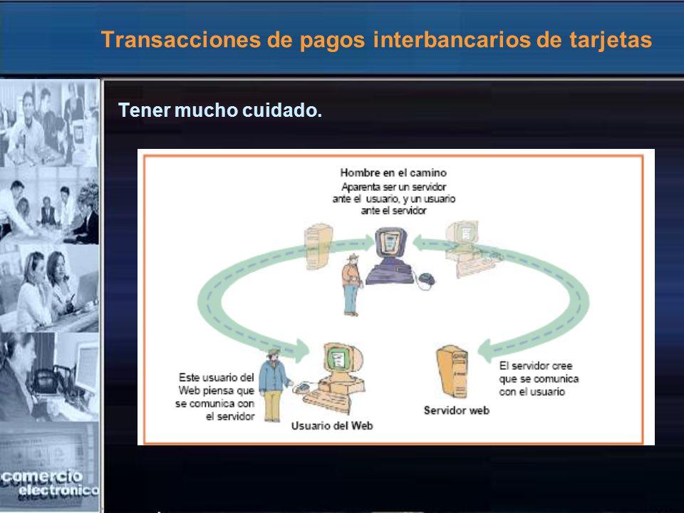 Transacciones de pagos interbancarios de tarjetas