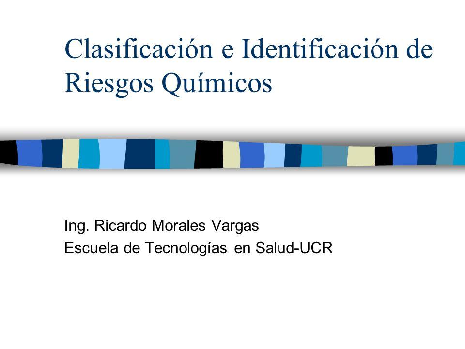 Clasificación e Identificación de Riesgos Químicos
