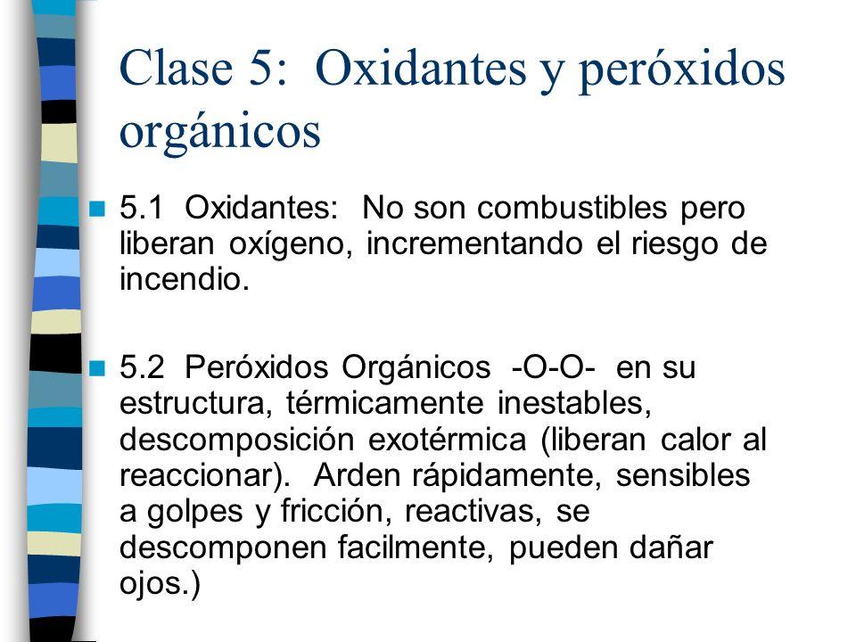 Clase 5: Oxidantes y peróxidos orgánicos