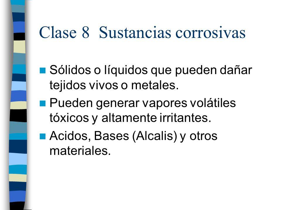 Clase 8 Sustancias corrosivas