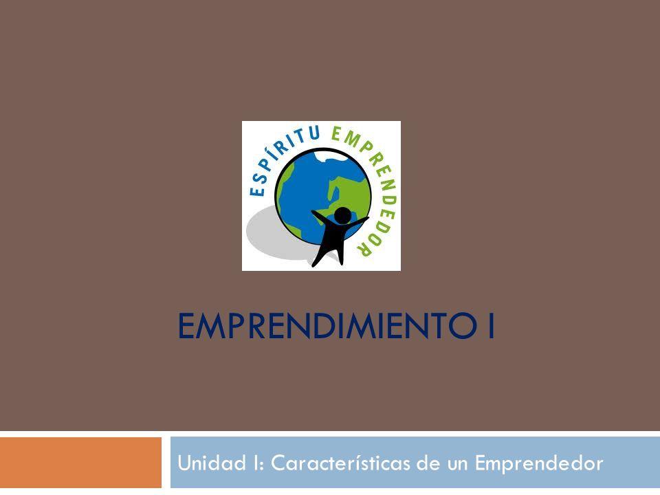 Unidad I: Características de un Emprendedor
