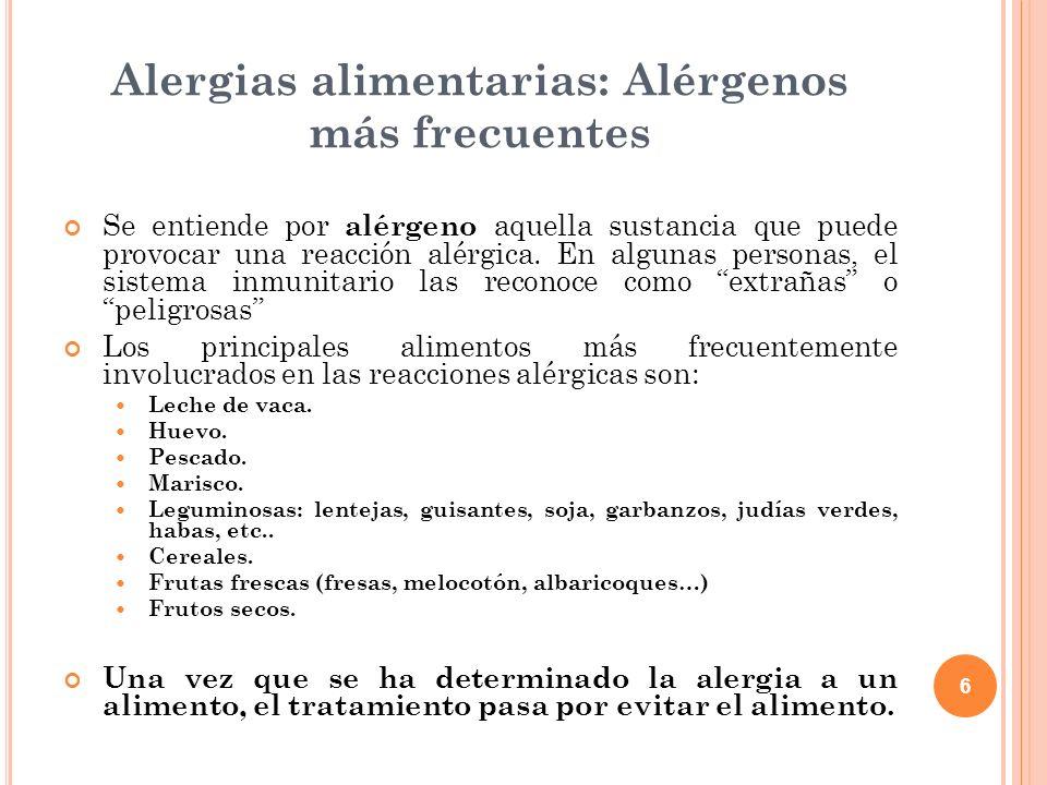 Alergias alimentarias: Alérgenos más frecuentes