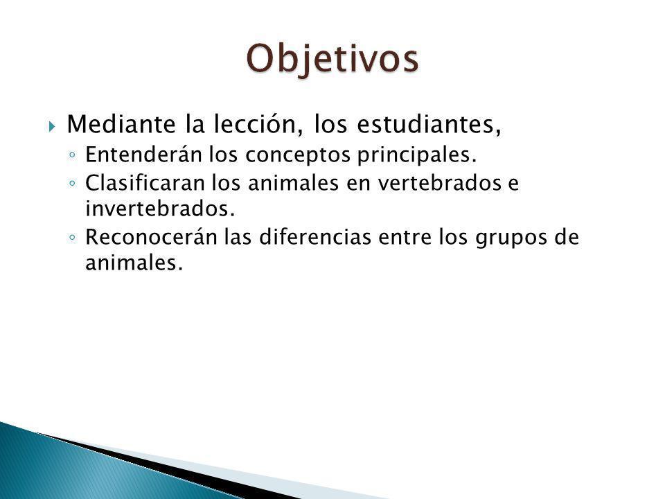 Objetivos Mediante la lección, los estudiantes,