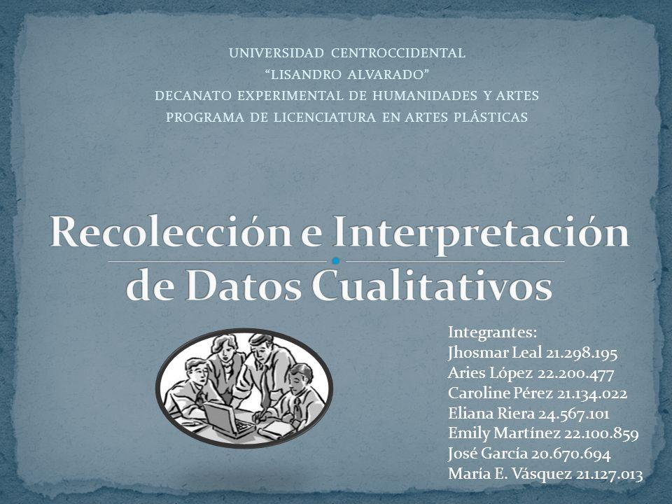Recolección e Interpretación de Datos Cualitativos