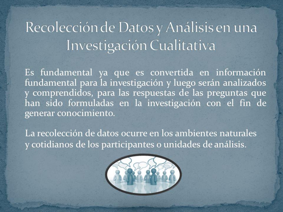 Recolección de Datos y Análisis en una Investigación Cualitativa