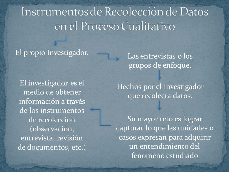 Instrumentos de Recolección de Datos en el Proceso Cualitativo