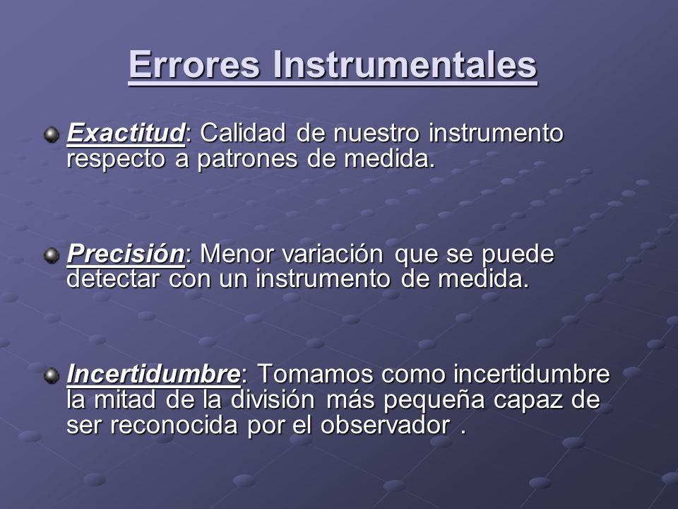 Errores Instrumentales