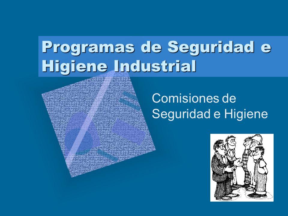 Programas de Seguridad e Higiene Industrial