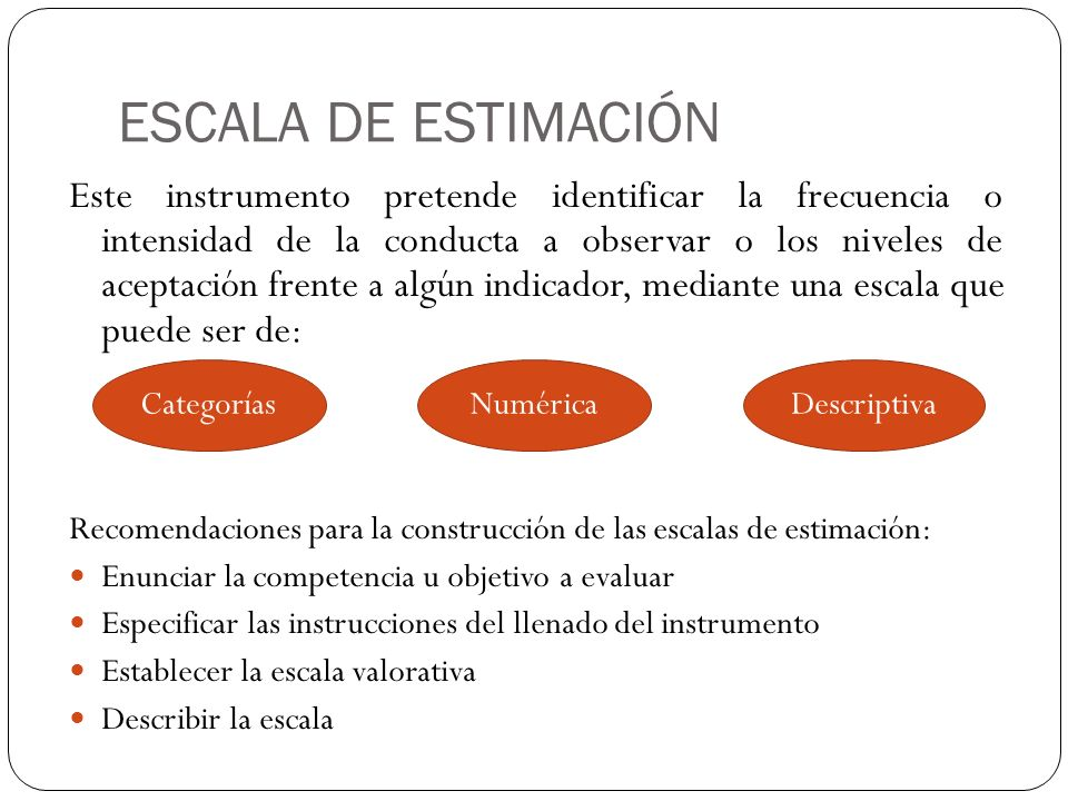ESCALA DE ESTIMACIÓN