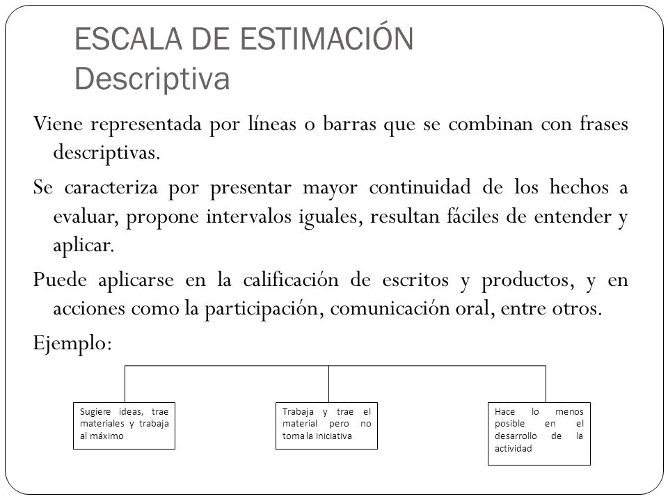 ESCALA DE ESTIMACIÓN Descriptiva