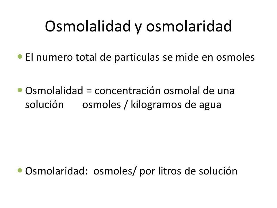 Osmolalidad y osmolaridad