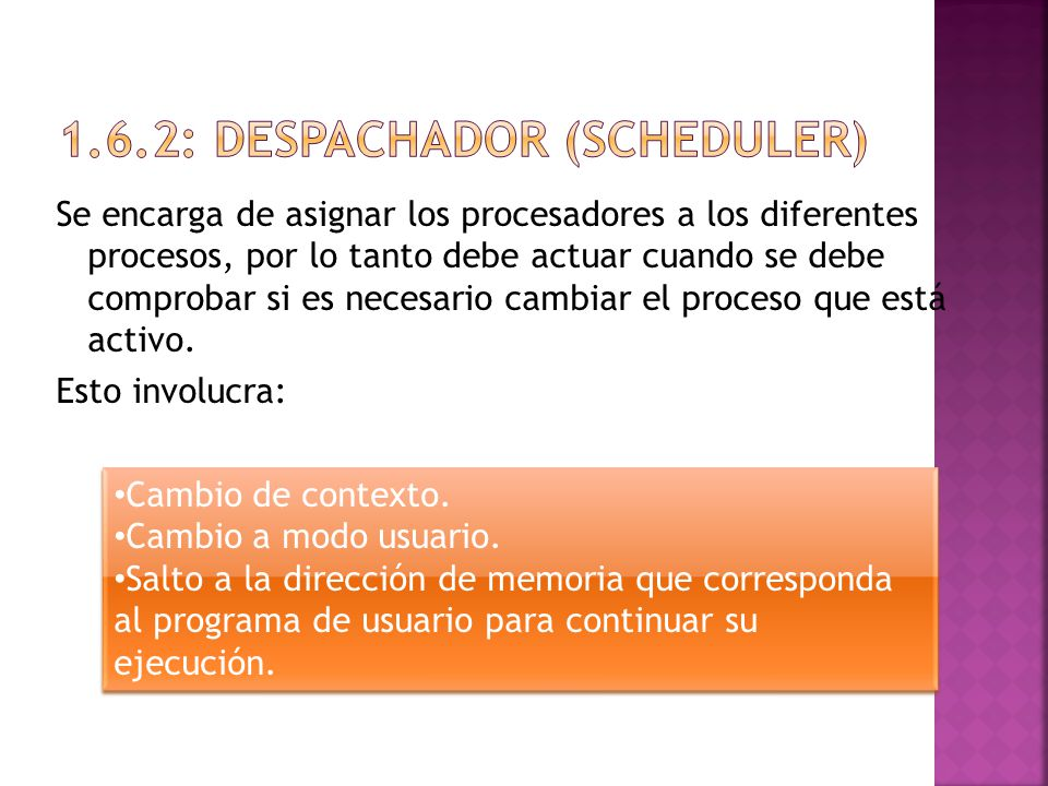 1.6.2: DESPACHADOR (SCHEDULER)