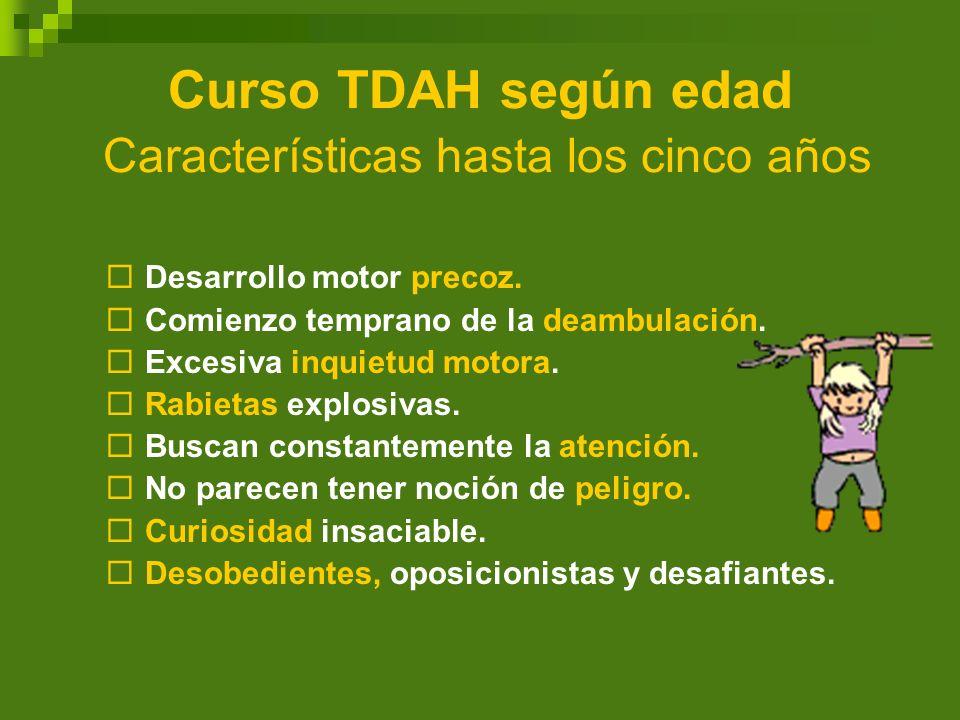 Curso TDAH según edad Características hasta los cinco años