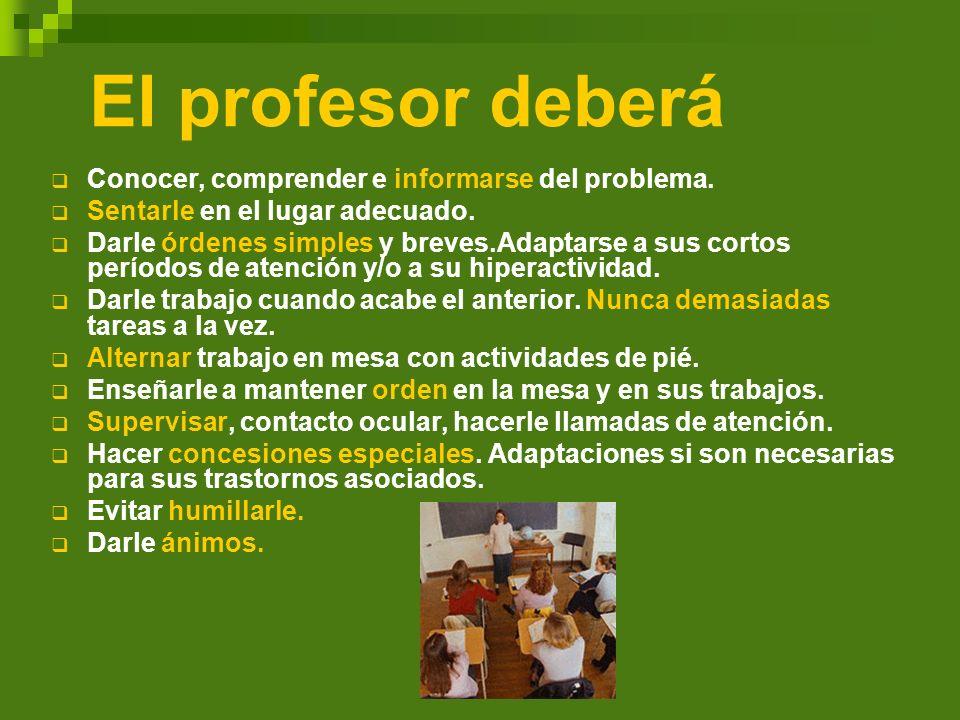 El profesor deberá Conocer, comprender e informarse del problema.