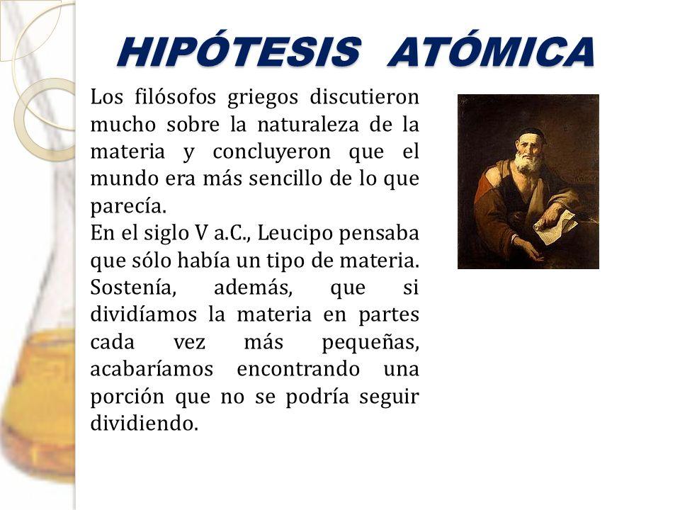 HIPÓTESIS ATÓMICA