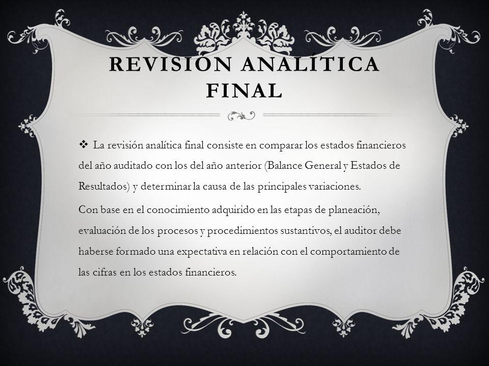 Revisión analítica final